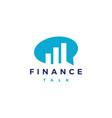 finance talk logo icon vector image
