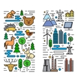 flat nature and city vector image vector image