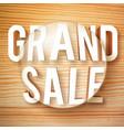 grand sale symbol vector image vector image