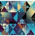 grunge polygonal vector image vector image