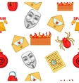 Hacking pattern cartoon style vector image vector image