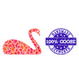 handmade composition of goose and distress seal vector image vector image