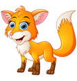 happy fox cartoon isolated on white background vector image vector image