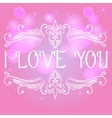 I love you card with decorative divider vector image