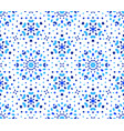 indigo dots blue flower pattern vector image vector image