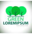 Logo green tree vector image vector image