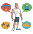 man sport muscular strong vector image