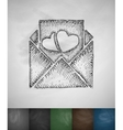 mash note icon Hand drawn vector image vector image