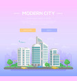 modern city - colorful vector image vector image