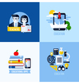 Modern flat concepts of educational elements vector image vector image