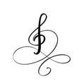 music key hand drawn logo and icon vector image vector image