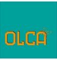 Name Olga vector image vector image
