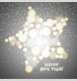 new year greeting card design star of glowing vector image vector image