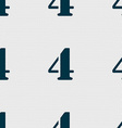 number four icon sign Seamless abstract background vector image