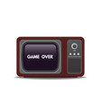old style tv ang game over text vector image vector image