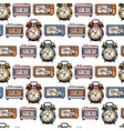 pattern with clock vector image vector image