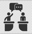 politic debate icon in flat style presidential vector image vector image