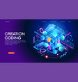 programming web banner vector image vector image