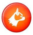 Pug dog icon flat style vector image vector image