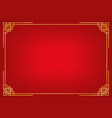 red chinese abstract background vector image vector image