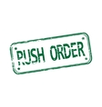 Rush order rubber stamp vector image
