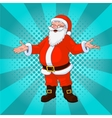 Santa Claus comic style design with jolly plump in vector image vector image