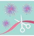 Scissors cut the ribbon Grand opening celebration vector image vector image