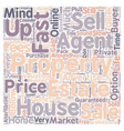 Sell My House Fast text background wordcloud vector image vector image