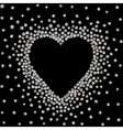 silver frame in shape heart vector image