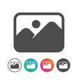 simple landscape icon symbol design set vector image