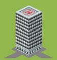 skyscraper building isometric vector image vector image