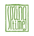 spring time lettering vector image vector image