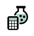 tube test laboratory line icons vector image