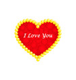 valentines day card i love you vector image vector image