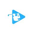 video golf logo icon design vector image