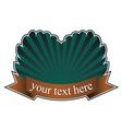 Vintage emblem with scroll