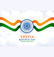 wavy indian flag for republic day background vector image vector image