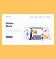 web design flat modern concept - online store vector image vector image