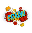 word crash on comic cloud explosion background vector image vector image