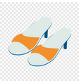 yellow ladys high heel shoes isometric icon vector image