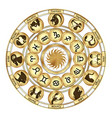 zodiac signs medallions vector image vector image