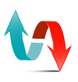 Arrows - Red and Blue Arrow Set on White vector image