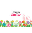 happy easter egg background template vector image