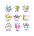 mind energy original logo design set creation and vector image
