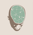 a human head with brain vector image vector image