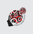 african hair style logo vector image vector image