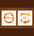 autumn and fall cards vector image vector image