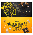 banners with different holiday accessories happy vector image vector image