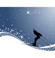 biathlon background vector image vector image