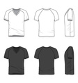 Blank v-neck t-shirt vector image